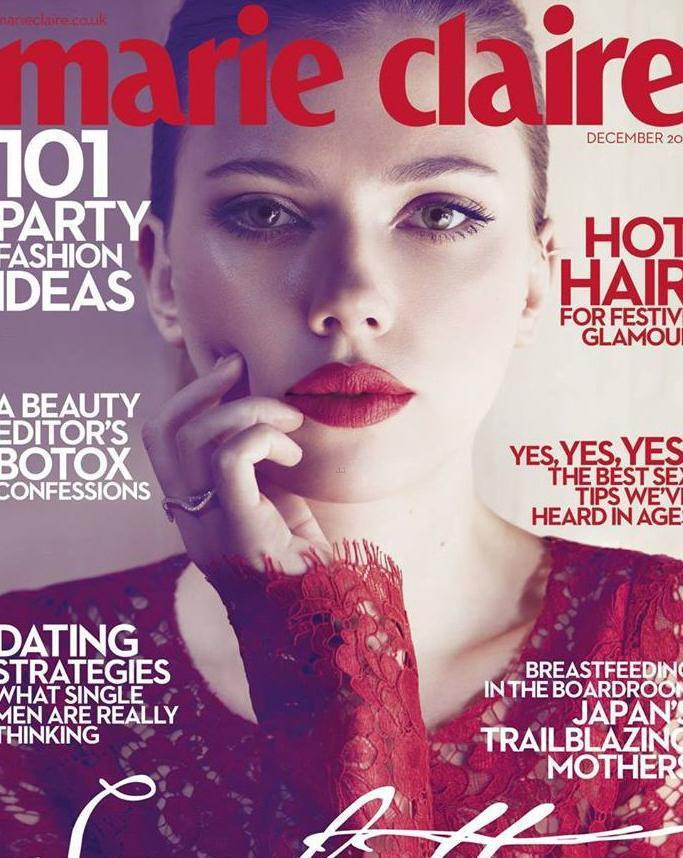 Скарлетт Йоханссон на обложке Marie Claire UK декабрь 2013