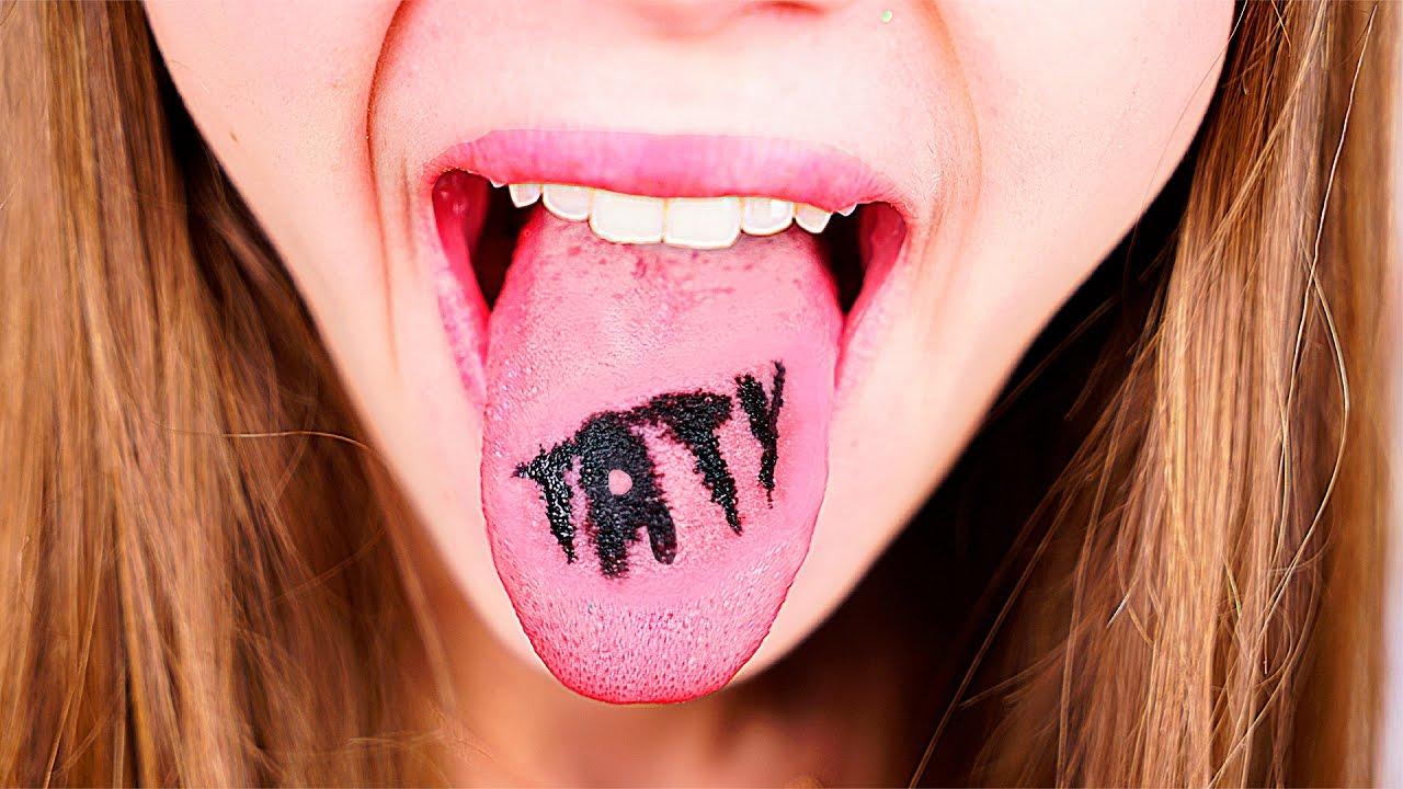 Как делают тату на языке
